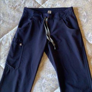 Figs Small Navy Kade Cargo Scrub Pants